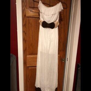 NWT White Strapless Trixxi Maxi Dress